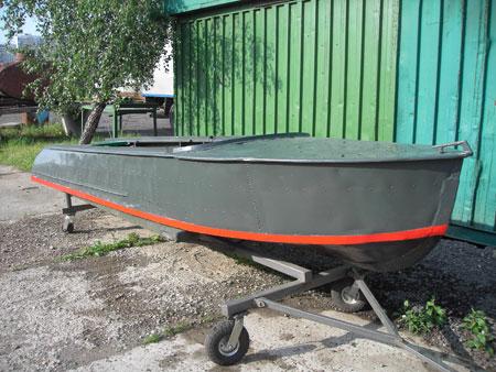 как снять краску с лодки казанка